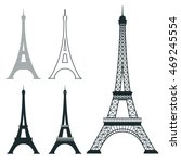 different eiffel tower vector... | Shutterstock .eps vector #469245554