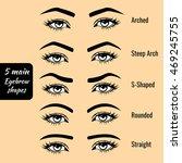 5 basic eyebrow shape types... | Shutterstock .eps vector #469245755