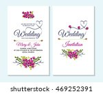 wedding invitation  thank you... | Shutterstock .eps vector #469252391