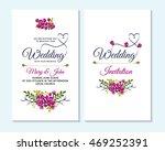 wedding invitation  thank you... | Shutterstock .eps vector #469252391