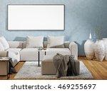 mockup poster blank in a modern ... | Shutterstock . vector #469255697