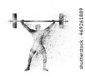 weight lifter lifting heavy... | Shutterstock .eps vector #469261889
