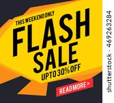 flash sale with upto 30 ... | Shutterstock .eps vector #469263284