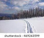 ski trail on the snow | Shutterstock . vector #469263599