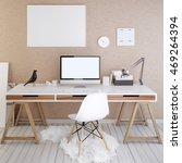 mockup monitor screen and... | Shutterstock . vector #469264394
