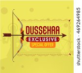 dussehra exclusive offer sale... | Shutterstock .eps vector #469264985