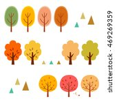 autumn trees elements | Shutterstock .eps vector #469269359