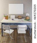 mockup poster blank on the... | Shutterstock . vector #469270205