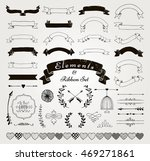 set of hand drawn black doodle... | Shutterstock .eps vector #469271861