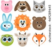set of funny animals. raster... | Shutterstock . vector #469289645