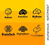 creative brain logo template | Shutterstock .eps vector #469294067