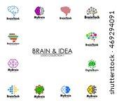 creative brain logo template | Shutterstock .eps vector #469294091