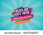 vector of stylized festive... | Shutterstock .eps vector #469296857