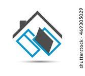 window  door and roof of the... | Shutterstock .eps vector #469305029