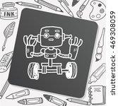 robot doodle | Shutterstock .eps vector #469308059