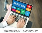 people using laptop in an... | Shutterstock . vector #469309349