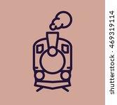 train icon  old classic steam... | Shutterstock .eps vector #469319114