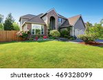 luxury house exterior with... | Shutterstock . vector #469328099