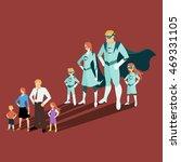 family of superheroes.... | Shutterstock .eps vector #469331105