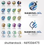 3d collection of logos in the... | Shutterstock .eps vector #469336475