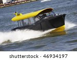 Watertaxi In Port Of Rotterdam