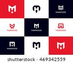 minimalistic mh logo collection....   Shutterstock .eps vector #469342559