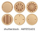 bronze manhole covers. vector...   Shutterstock .eps vector #469351631