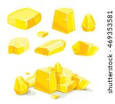 vector set of different golden...