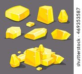 vector set of different golden...