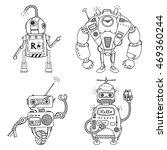 vector illustration of a robot. ... | Shutterstock .eps vector #469360244