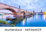 the charles bridge is located... | Shutterstock . vector #469364429