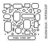 pixel icons set with speech... | Shutterstock .eps vector #469366169