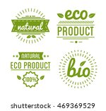 set of organic food labels and... | Shutterstock .eps vector #469369529