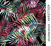 seamless tropical pattern.... | Shutterstock .eps vector #469377329