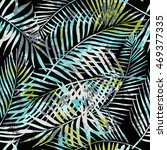 seamless tropical pattern.... | Shutterstock .eps vector #469377335