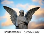 Angel Sculpture At A Tomb For...