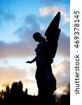 Big Angel Sculpture With Light...