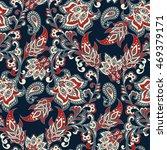 vintage floral seamless patten | Shutterstock .eps vector #469379171