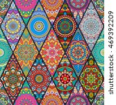 seamless tile pattern moroccan... | Shutterstock .eps vector #469392209