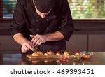 restaurant hotel private chef...   Shutterstock . vector #469393451
