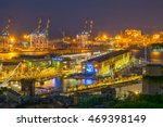 night aerial view of port in... | Shutterstock . vector #469398149