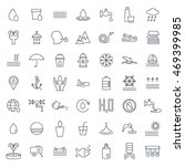 water icon set in thin line...   Shutterstock . vector #469399985