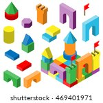 colourful building blocks for... | Shutterstock . vector #469401971