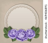 floral card with hand drawn...   Shutterstock .eps vector #469406891