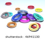 multicolored shiny rings on a... | Shutterstock . vector #46941130