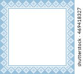 vintage frame template in blue... | Shutterstock . vector #469418327