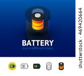 battery color icon  vector...