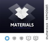 materials color icon  vector...