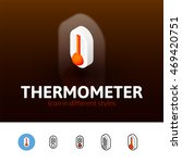 thermometer color icon  vector...
