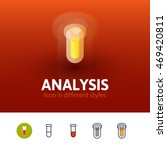 analysis color icon  vector...